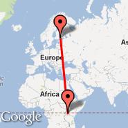 Helsinki (Helsinki-vantaa, HEL) - Entebbe (Entebbe International Airport, EBB)