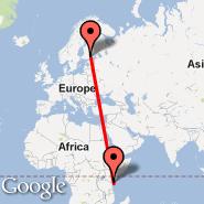 Helsinki (Helsinki-vantaa, HEL) - Mombasa (Moi International, MBA)