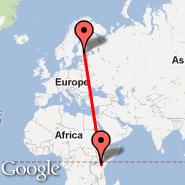 Helsinki (Helsinki-vantaa, HEL) - Nairobi (Jomo Kenyatta International, NBO)