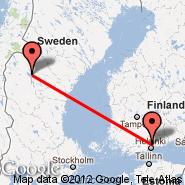 Helsinki (Helsinki-vantaa, HEL) - Ostersund (Åre Östersund Airport, OSD)