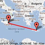 Heraklion/Kreta (Nikos Kazantzakis Airport, HER) - Catania (Fontanarossa, CTA)