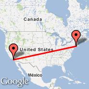 Hartford/Springfield (Brainard, HFD) - Los Angeles (Los Angeles International, LAX)