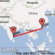 Hong Kong (Hong Kong International, HKG) - Chennai (Madras International, MAA)