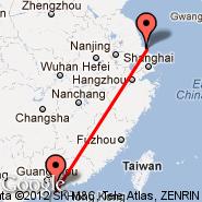 Hong Kong (Hong Kong International, HKG) - Weihai (Dashuipo, WEH)