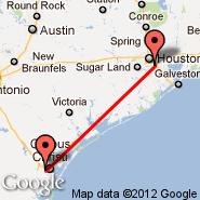 Houston (William P Hobby, HOU) - Corpus Christi (Corpus Christi International Airport, CRP)