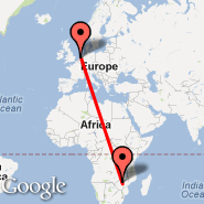 Harare (Harare International Airport, HRE) - Amsterdam (Amsterdam-Schiphol, AMS)
