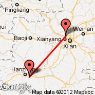 Hanzhong (HZG) - Xi An (Xianyang, XIY)