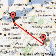 Washington (Washington Dulles International, IAD) - Cleveland (Hopkins International, CLE)