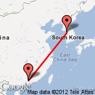 Seoul (Incheon International, ICN) - Guangzhou/Kanton (New Baiyun, CAN)