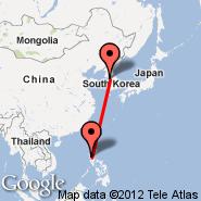Seoul (Incheon International, ICN) - Luzon Island (Diosdado Macapagal International, CRK)