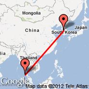 Seoul (Incheon International, ICN) - Phuket (Phuket International, HKT)