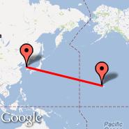 Seoul (Incheon International, ICN) - Honolulu/Oahu (Honolulu International, HNL)