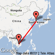 Seoul (Incheon International, ICN) - Stung Treng (TNX)