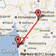 Indore (Devi Ahilyabai Holkar, IDR) - Bombay/Mumbai (Chhatrapati Shivaji International, BOM)