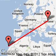 Kijev (Zhulhany, IEV) - Gran Canaria (Gran Canaria International (Gando Airport), LPA)