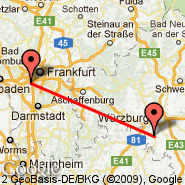 Ingolstadt-manching (Manching, IGS) - Frankfurt (Frankfurt International Airport, FRA)