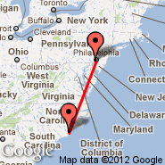 Wilmington (Wilmington International, ILM) - Philadelphia (Philadelphia International, PHL)