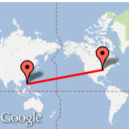 Indianapolis (Indianapolis International, IND) - Manila (Ninoy Aquino Intl, MNL)