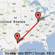 Indianapolis (Indianapolis International, IND) - San Antonio (San Antonio International, SAT)