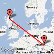 Inverness (INV) - Beč (Schwechat International, VIE)