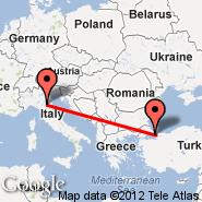 Istanbul (Ataturk, IST) - Bologna (Guglielmo Marconi, BLQ)