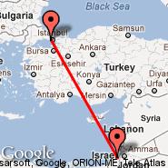Istanbul (Ataturk, IST) - Jeruzalem (Atarot, JRS)
