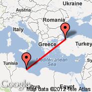 Istanbul (Ataturk, IST) - Misurata (MRA)