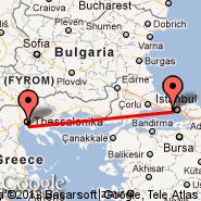 Istanbul (Ataturk, IST) - Solun (Macedonia International, SKG)