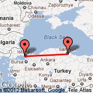 Istanbul (Ataturk, IST) - Samsun (Carsamba, SZF)