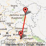 Chandigarh (IXC) - Leh/Ladakh (Bakula Rimpoche, IXL)