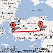 Izmir (Metropolitan Area, IZM) - Kayseri (Erkilet International Airport, ASR)