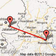 Jalalabad (JAA) - Islamabad (Islamabad International, ISB)