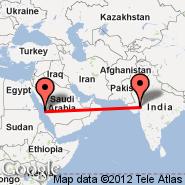 Jeddah (King Abdulaziz International, JED) - Ahmedabad (Sardar Vallabhbhai Patel International Airport, AMD)