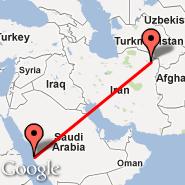 Jeddah (King Abdulaziz International, JED) - Mashad (Mashad, MHD)