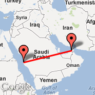 Jeddah (King Abdulaziz International, JED) - Sharjah (Sharjah International Airport, SHJ)