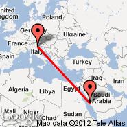 Jeddah (King Abdulaziz International, JED) - Benetke (Marco Polo, VCE)