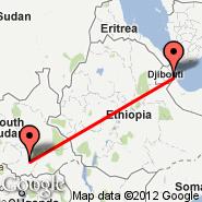 Djibouti (Ambouli, JIB) - Juba (JUB)