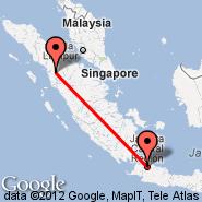 Jakarta (Soekarno-hatta Intl, JKT) - Aek Godang (AEG)