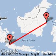 Jakarta (Soekarno-hatta Intl, JKT) - Bontang (BXT)