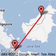 Jakarta (Soekarno-hatta Intl, JKT) - Long Lama (LLM)