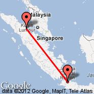 Jakarta (Soekarno-hatta Intl, JKT) - Tanjung Balai (TJB)