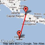 Jakarta (Soekarno-hatta Intl, JKT) - Christmas Island (XCH)