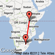 Johannesburg (Oliver Reginald Tambo International, JNB) - Kampala (KLA)