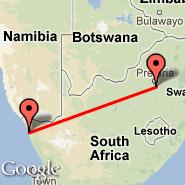 Johannesburg (Oliver Reginald Tambo International, JNB) - Kleinzee (KLZ)