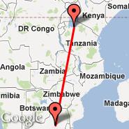 Johannesburg (Oliver Reginald Tambo International, JNB) - Mwanza (MWZ)
