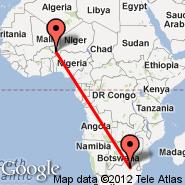 Johannesburg (Oliver Reginald Tambo International, JNB) - Niamey (Diori Hamani International Airport, NIM)