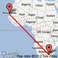 Johannesburg (Oliver Reginald Tambo International, JNB) - Nouakchott (NKC)