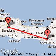 Yogyakarta (Adisutjipto, JOG) - Bandung (Husein Sastranegara, BDO)