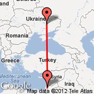 Jeruzalem (Atarot, JRS) - Dnepropetrovsk (DNK)