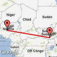 Juba (JUB) - Abuja (Nnamdi Azikiwe International Airport, ABV)